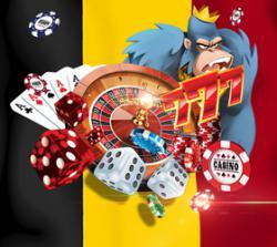 drapeau belgique gorille roi roulette dés cartes as jetons